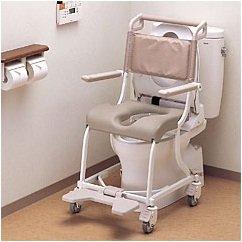 フランスベッド メディカルサービス シャワーキャリー 水まわりよう用 車椅子 {6輪タイプ) ESCS620AS