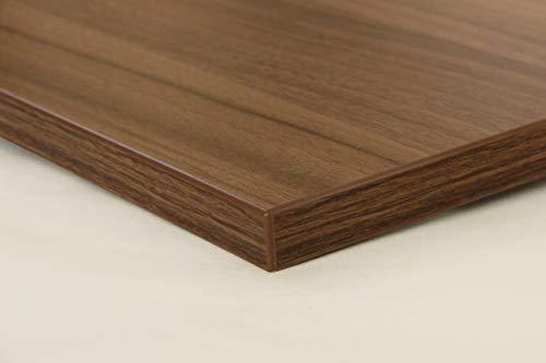 Schreibtischplatte 140x80 aus Holz DIY Schreibtisch direkt vom Hersteller vielseitig einsetzbar - Tischplatte Arbeitsplatte Werkbankplatte mit 125kg Belastbarkeit & Kratzfestigkeit - Rotbraun
