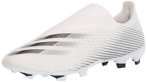 Zapatillas de fútbol Adidas X Ghosted.3 Ii Firm Ground para hombre, Blanco (Blanco/Negro/Plateada), 37 EU