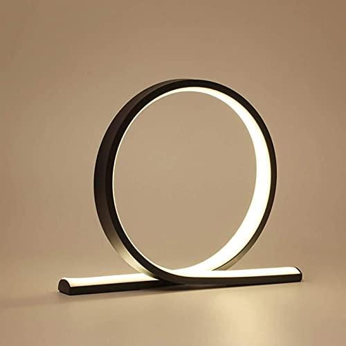 Lámpara de mesa LED con anillo de alto rendimiento, regulable al tacto, lámpara de escritorio blanca cálida de 12 W con interruptor táctil para dormitorio, cabecera de la habitación de los niños