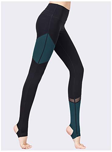 QMMD Leggings de cintura alta sin costuras, para levantamiento de glúteos, con control de barriga, para yoga, para gimnasio, entrenamiento, correr, para mujer, talla A, L
