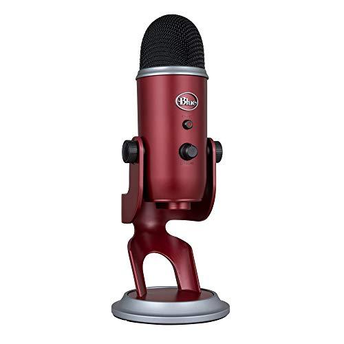 Blue Microphones Yeti USB-Mikrofon für Aufnahme und Streaming auf PC und Mac, verstellbares Stativ, Plug und Play, Karminrot
