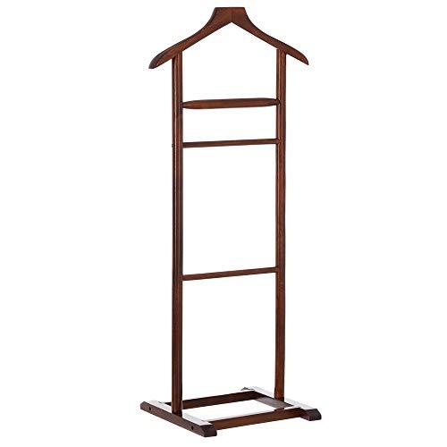 Perchero de Suelo Moderno marrón de Madera para Dormitorio de 107 cm Bretaña - LOLAhome