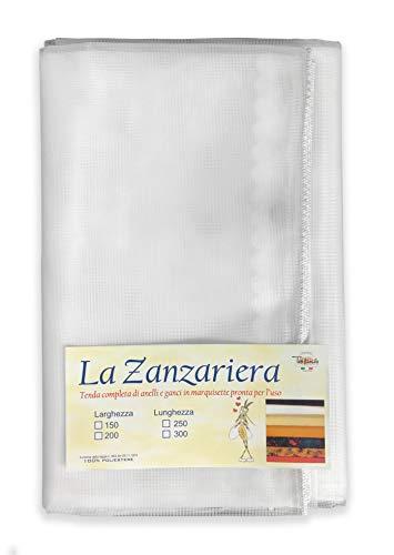 zanzariera 300x300 Tenda Rete ZANZARIERA Marquisette da Esterno PIOMBATA in 4 Misure Diverse Unito Bianco (cm. 150 x 300)