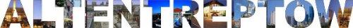 INDIGOS UG - Wandtattoo Wandsticker Wandaufkleber - Aufkleber farbige Wandschrift Städtename Städtename Altentreptow mit Sehenswürdigkeiten 96 x 8 cm Länge