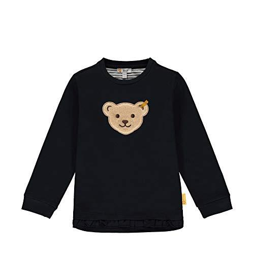 Steiff Baby-Mädchen Sweatshirt, Blau (Black Iris 3032), 98 (Herstellergröße: 098)