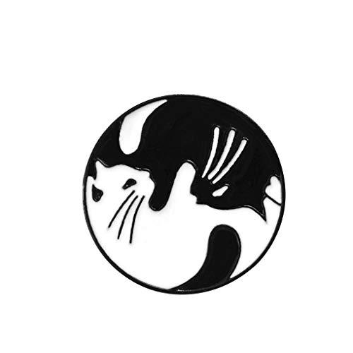 teng hong hui Camisa Chaqueta de la Historieta Diseño Redondo Broche Broche de Goteo de Aceite Ronda Ronda de aleación de aleación de Zinc Insignia en el Pecho Pin de Ropa Decoración