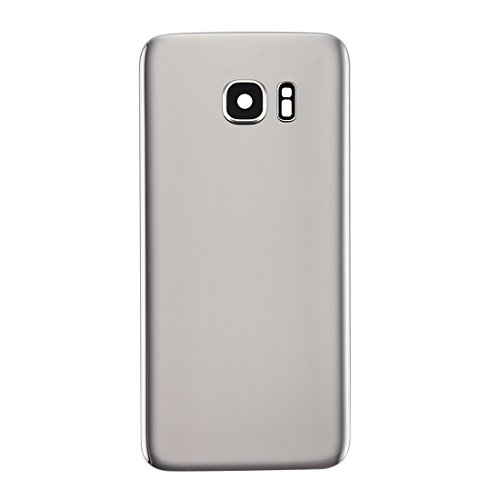 PAN-EX backCOVER para Samsung Galaxy S7 Edge / G935 Batería Original contraportada con Tapa de la Lente de la cámara (Color : Silver)