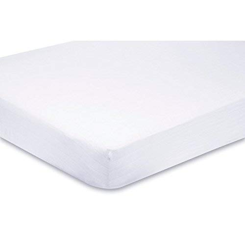 Sasma Home - 100% Organic Cotton - 2 x Soft Cot Fitted Sheets - 120x60 cm - White