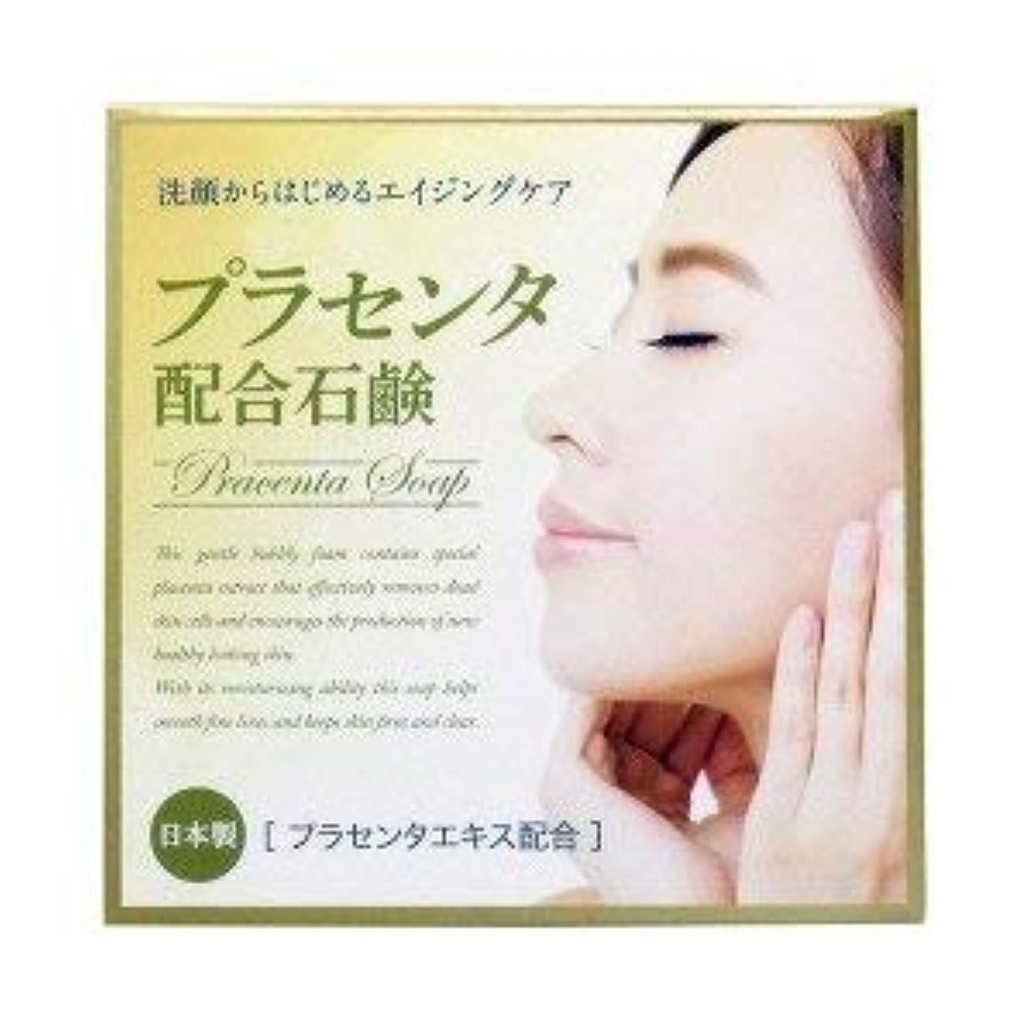 胆嚢無心一次プラセンタ配合石鹸 80g×2 2個1セット プラセンタエキス保湿成分配合 日本製