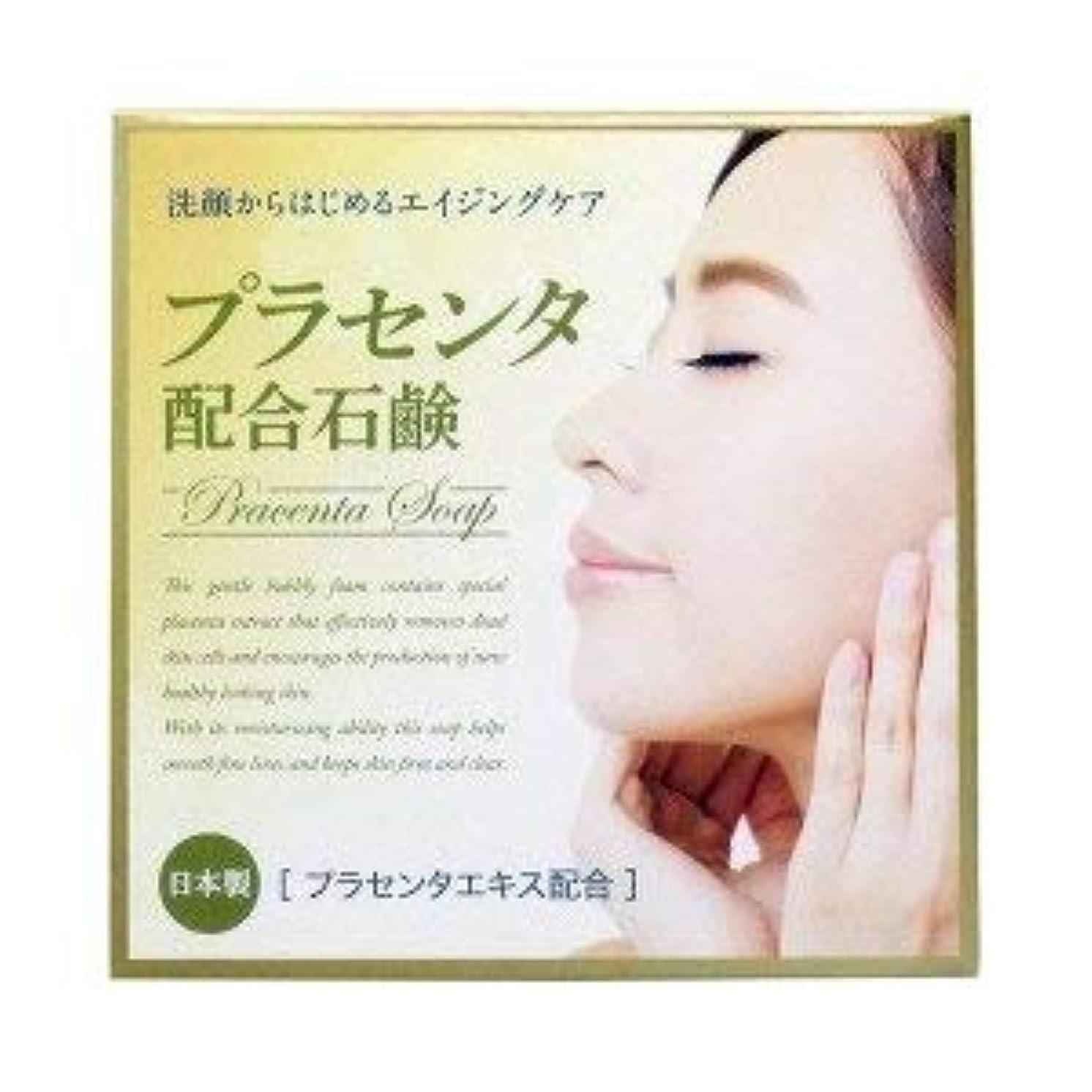 プラセンタ配合石鹸 80g×2 2個1セット プラセンタエキス保湿成分配合 日本製