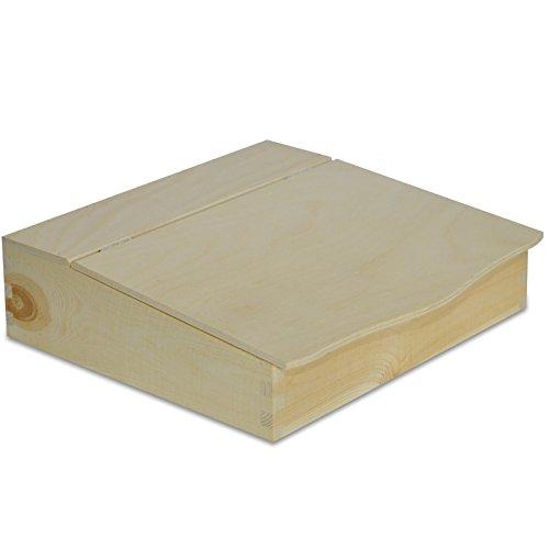 Creative Deco Schreibtisch Organizer Holzkiste   27 x 27,5 x 7,8 cm   Dokumentablage Holzkiste mit Deckel   Perfekt für Lagerung, Decoupage & Dekoration