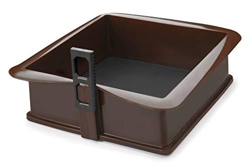 Lacor Molde Desmontable Cuadrado 21X21X7 CM, Silicona, Marrón, 21 cm