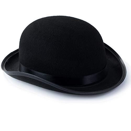 Funny Party Hats Sombreros de Vestir para Adultos, Sombreros de Fiesta de Disfraces para Hombres y Mujeres, Unisex por Divertidos Sombreros de Fiesta (Negro Derby Bowler Parte...
