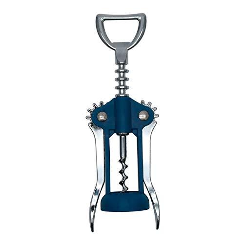 Fackelmann Elemental Korkenzieher, Weinflaschenöffner, elegant, Zinklegierung und PP, 17 cm, 1 Stück