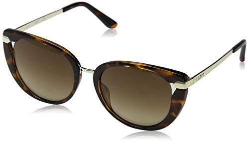 Guess GU7530 52G 54 Monturas de gafas, Marrón (Avana ScuraMarrone Specchiato), 54.0 Unisex Adulto