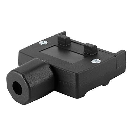 Conector de enchufe de enchufe de remolque, enchufe macho de enchufe de remolque negro 12V para automóviles para vehículos comerciales para remolques