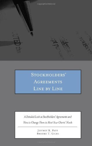 Stockholders' Agreements Line by Line: A Detailed Look at Stockholders' Agreements and How to Change