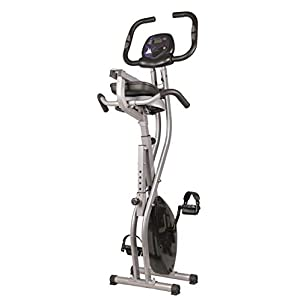 BalanceFrom Folding Magnetic Upright Exercise Bike with Pulse Sensors and LCD Display