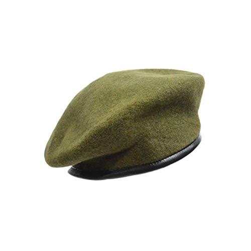 TENDYCOCO Mütze Hut Unisex Einstellbare Reine Wolle Sonnenhut Fahren Kappe für Erwachsene Frauen Männer (grün)