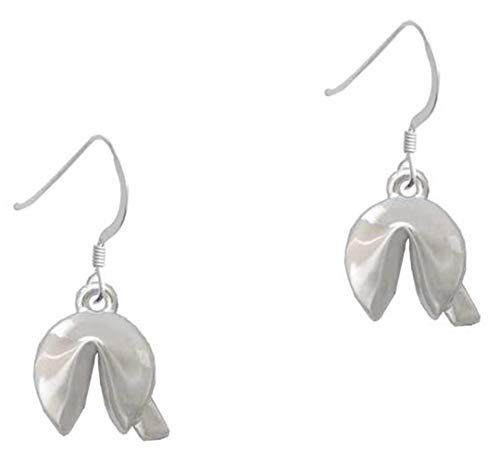 3-D Fortune Cookie - French Earrings