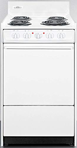 Summit WEM110 Kitchen Electric Cooking Range, White