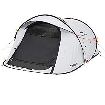 Quechua 2 Seconds II Pop-Up Tent, 643763, Fresh & Black
