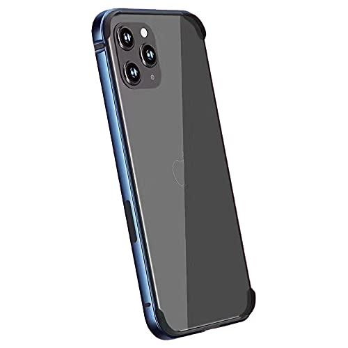 Golook • Custodia Cover Bumper iPhone 12 e 12 PRO in Metallo • Vari Colori • Protezione Laterale Completa • Protezione Bordi e Appoggio (Blu)