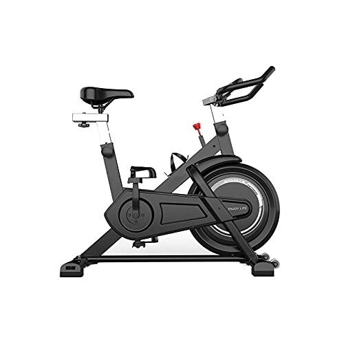 KASAN Bicicleta de Spinning Bicicleta De Ejercicio Vertical Ciclos De Estudio para Interiores Entrenamiento Aeróbico Fitness Bicicleta De Cardio Rueda Giratoria(Color:A)
