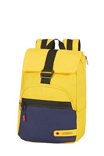 American Tourister City Aim Mochila tipo casual 40 cm, 20 Amarillo (Blue/Yellow)