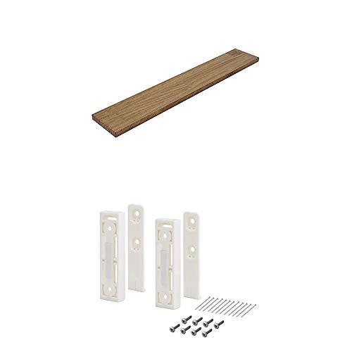 平安伸銅工業 DIY収納パーツ ナゲシレール ブラケット KXO-210 ホワイト 木材セット 幅60 奥行10cm 棚板ジャコビアン