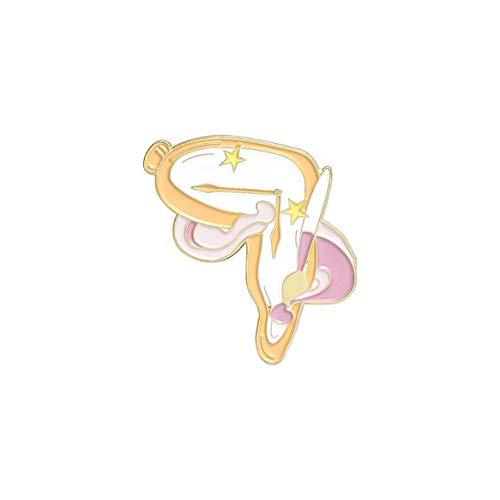 Artista Sueño Alfileres de esmalte Pincel personalizado Paleta Pintura Reloj Insignias para camisa Abrigo Pin de solapa Broches Joyería Regalos para amigos Estilo infantil3