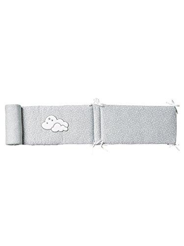 Vertbaudet Wattiertes Baby-Nestchen Wolkenschloss grau Bedruckt 360X30