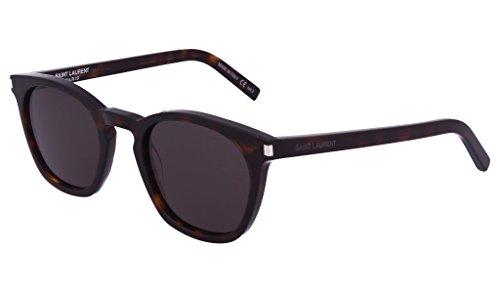 Saint Laurent Unisex-Erwachsene SL 28 004 Sonnenbrille, Braun (Avana/Smoke), 49
