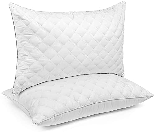 Bed Pillows for Sleeping 2 Pack Queen Size 20 x 30 Inches, Hypoallergenic Pillow for Side and Back Sleeper, Soft Hotel Collection Gel Pillows Set of 2, Down Alternative Cooling Pillow