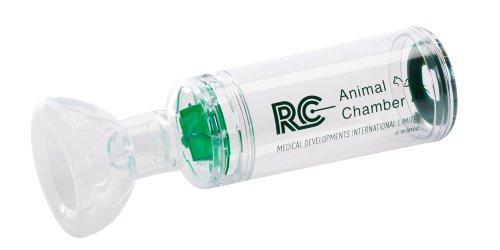 RC - Animal Chamber Hund Inhalierhilfe, ermöglicht Hunden Inhalation von Medikamenten, Hilfe bei Erkrankung der Atemwege und Bronchitis bei Hunden, Inhalator Hund