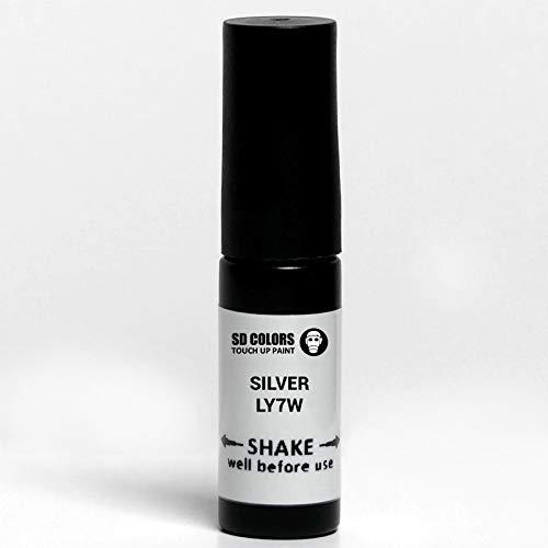 SD COLORS LY7W Ausbesserungslack, hellsilber, metallisch, 5 ml, praktischer Pinsel für die Reparatur von Kratzern