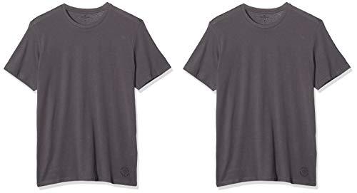 TOM TAILOR Herren Doppelpack Crew Neck T-Shirt - 2er Pack, Blau (Tarmac Grey 10899), Large