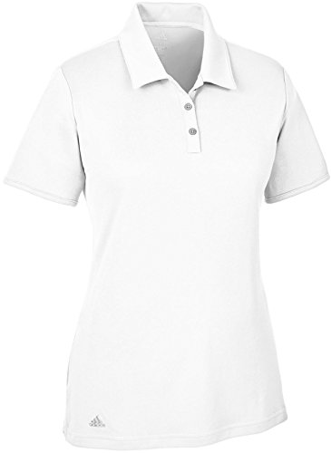 adidas Women, S Tournament Short Sleeve Polo de Golf, Femme S Blanc