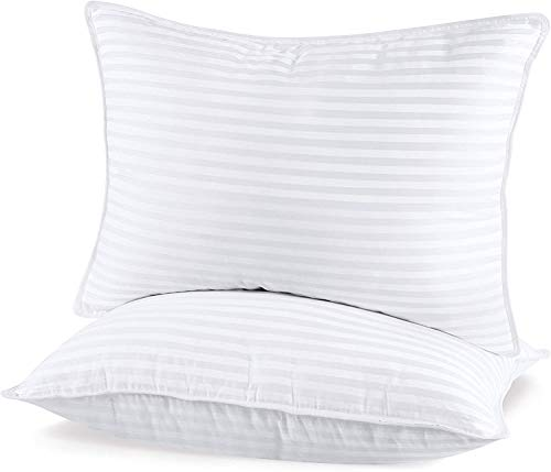 Utopia Bedding (2 Pack) Premium Plush Pillow - Fiber Filled Bed Pillows - King Size 20 x 36 Inches - Cotton Blend Pillows for Sleeping - Fluffy and Soft Pillows