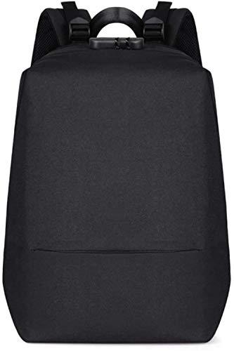 Men's Laptop Backpack,Waterproof Backpack, 15.6-Inch Laptop is Stolen Password Protector with USB Charging Port, Business Sportrucksack for Men, Outdoor Sports, Black