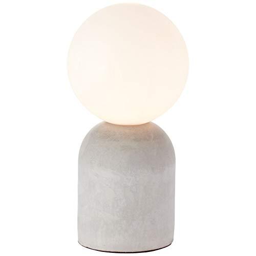 BRILLIANT lamp Yance tafellamp grijs beton |1x QT14, G9, 25W, geschikt voor pin-basislampen (niet inbegrepen) |Schaal A ++ tot E |Met snoerschakelaar