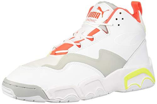 PUMA Unisex-Adult Source MID Sneaker, Whiteyellow Alert-High Rise, 10.5 M US