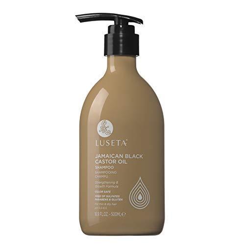 Luseta Shampoo aus Schwarzem jamaikanischen Rizinusöl für trockenes und feines Haar Fördert das Haarwachstum 500 ml