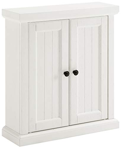 Crosley Furniture CF7020-WH Wand-Ablage, Holz, Distressed White