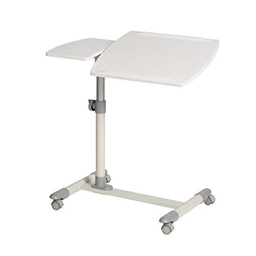 Pflegetisch Beistelltisch Höhenverstellbar/breitenverstellbar, Bett-Beistelltisch Für Krankenbett, Pflegebett, Laptoptisch Beistelltisch Notebooktisch (Color : White)