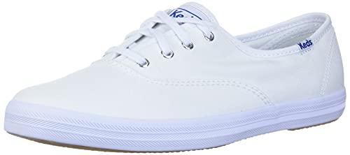 Keds Women's Champion Sneaker,White Canvas,8 M US
