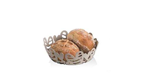 Brandani 54274, cestino pane Batticuore tortora in metal