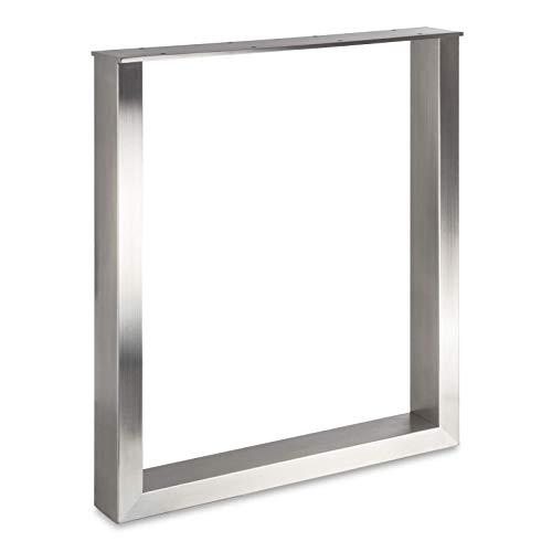 Tischgestell KUFE ECHT Edelstahl/Profil 80 x 40 mm/Höhe: 720 mm/Tiefe: 600 mm höhenverstellbar Tisch-Untergestell Rahmengestell von SO-TECH®