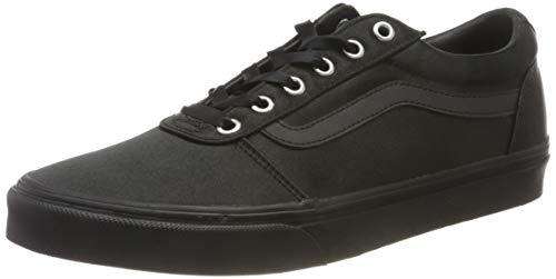 Vans Ward Canvas, Sneaker Mujer, Negro Satinado, 40 EU